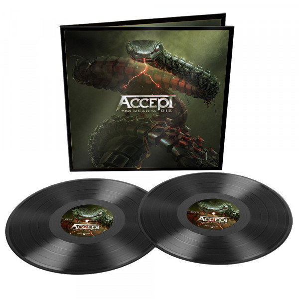 Accept ‎– Too Mean To Die, 2xLP (黑色)