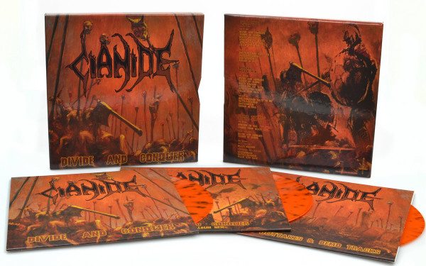 Cianide – Divide And Conquer, 3xLP (橙棕喷溅) 套盒